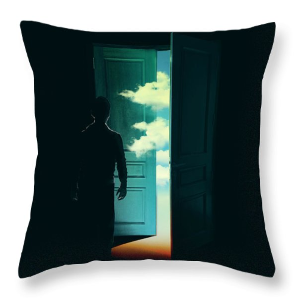 Door To the World Throw Pillow by Budi Satria Kwan