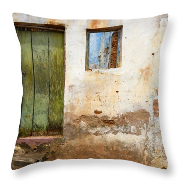 Doors And Windows Lencois Brazil 4 Throw Pillow by Bob Christopher
