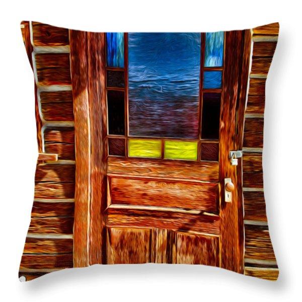 Doorway To The Past Throw Pillow by Omaste Witkowski