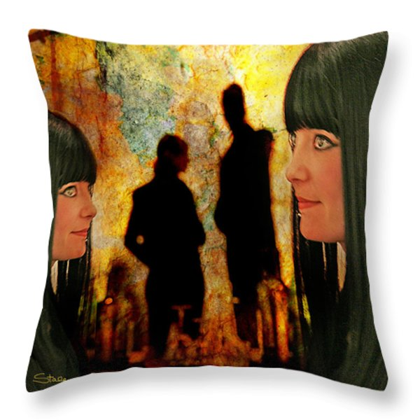 Doppelganger Throw Pillow by Chuck Staley