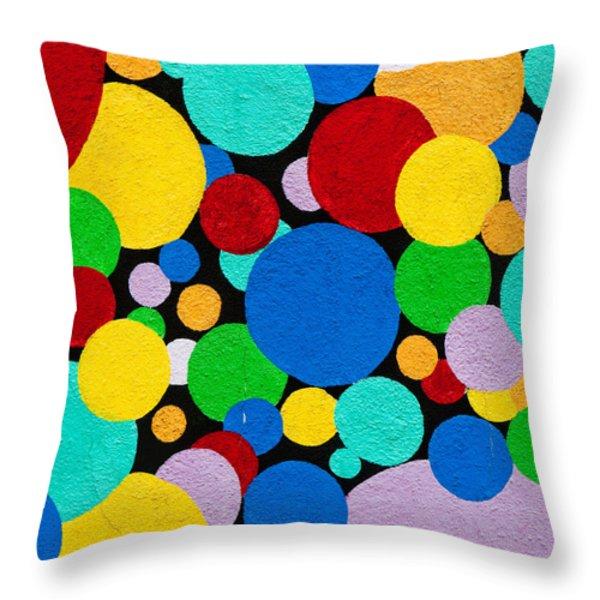 Dot Graffiti Throw Pillow by Art Block Collections