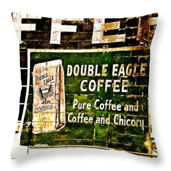 Double Eagle Coffee Throw Pillow by Scott Pellegrin