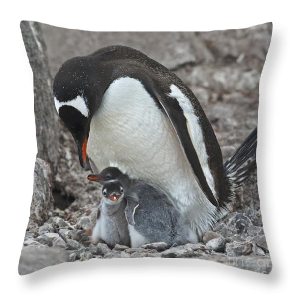 Double Love... Throw Pillow by Nina Stavlund