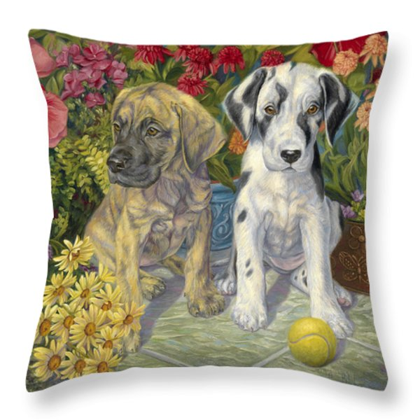 Double Trouble Throw Pillow by Lucie Bilodeau