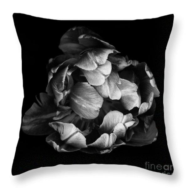 Double Tulip Throw Pillow by Oscar Gutierrez