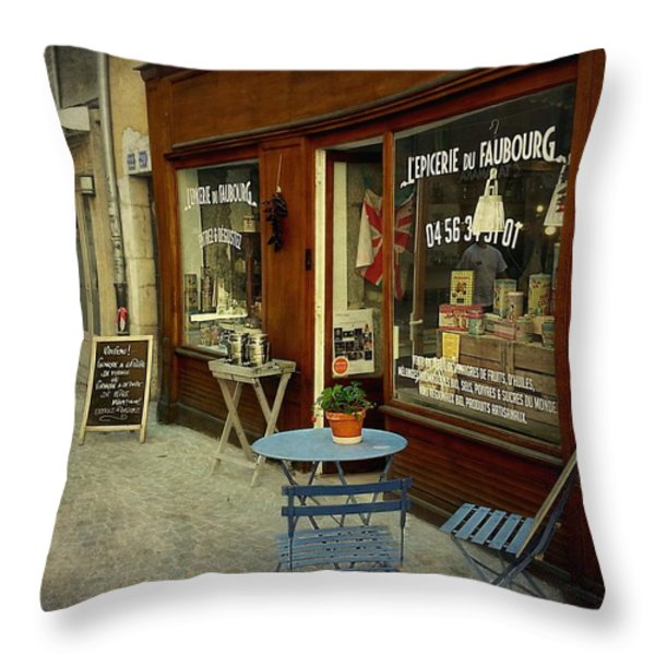 Douce France - Annecy Throw Pillow by Barbara Orenya