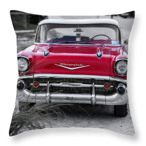 Down At The Shore Throw Pillow by Edward Fielding