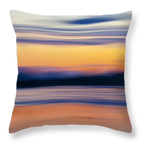 DOWN BY THE RIVER Throw Pillow by Theresa Tahara