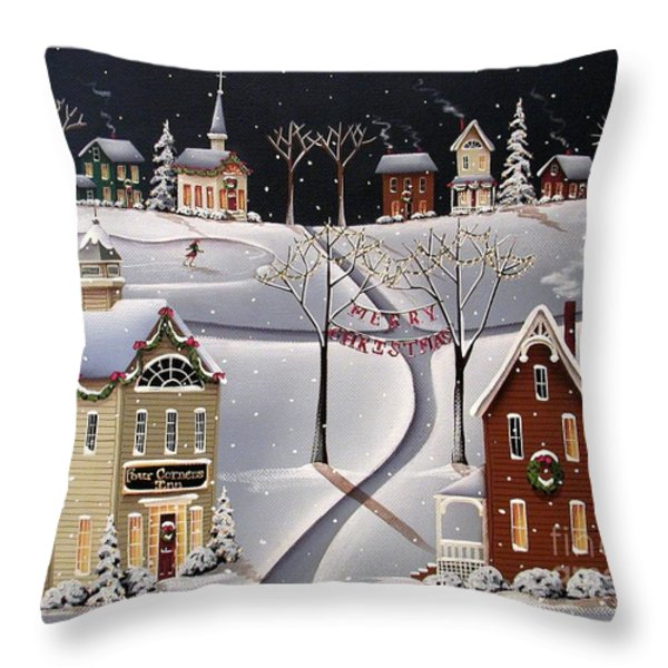 Down Home Christmas Throw Pillow by Catherine Holman