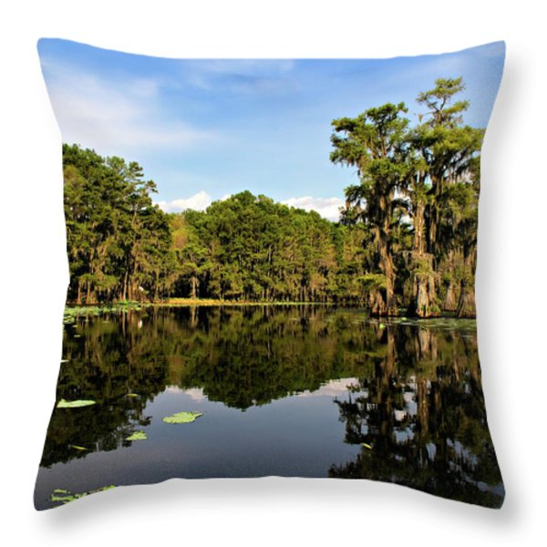 Down In The Bayou Throw Pillow by Lana Trussell