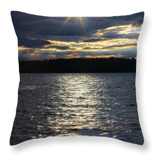 Down On My Knees Throw Pillow by Barbara McMahon