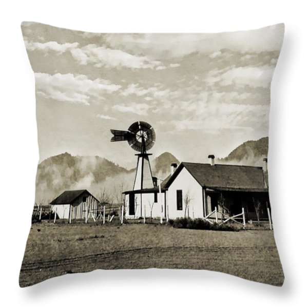 Down on the Farm Throw Pillow by Susan Leggett