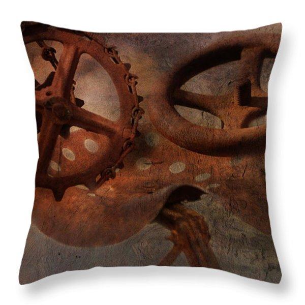 Down On The Farm Throw Pillow by Terry Fleckney