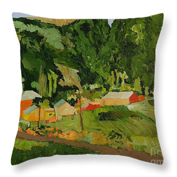Down The Road Throw Pillow by Allan P Friedlander