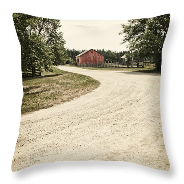 Down the Road Throw Pillow by Margie Hurwich