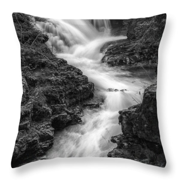 Down the Stream Throw Pillow by Jon Glaser