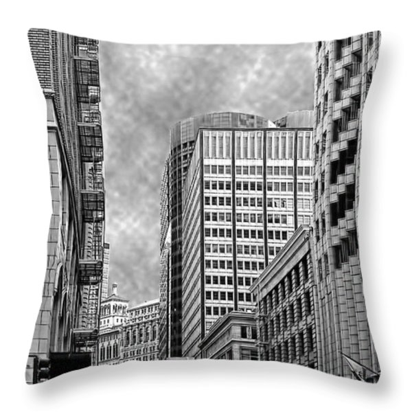 Down Town Throw Pillow by Camille Lopez
