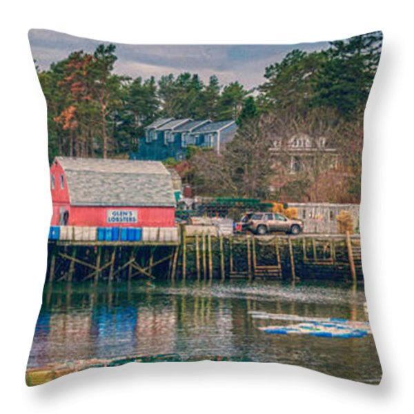Downeast Throw Pillow by Guy Whiteley
