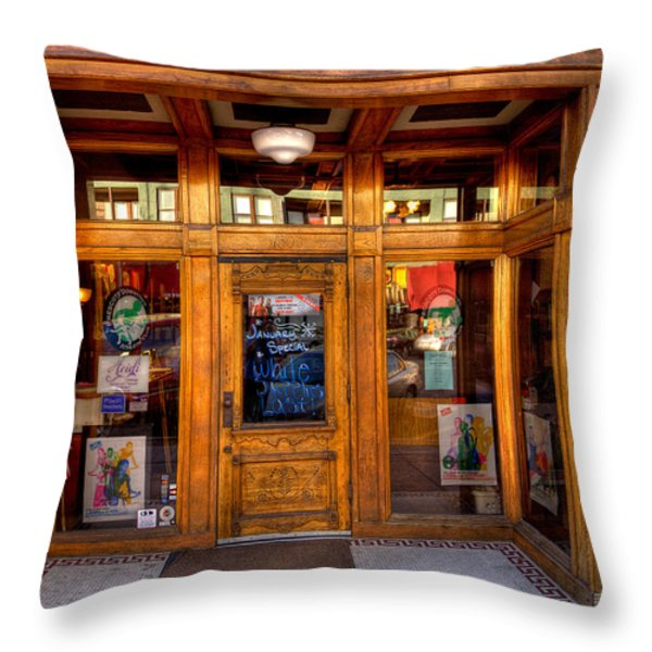 Downtown Athletic Club - Prescott Arizona Throw Pillow by David Patterson
