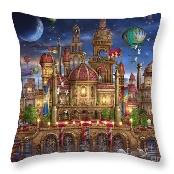Downtown Throw Pillow by Ciro Marchetti