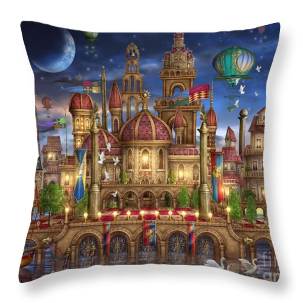 Downtown Throw Pillow by Ciro Marchetti