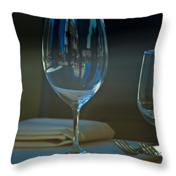 Downtown Dining Throw Pillow by Christi Kraft