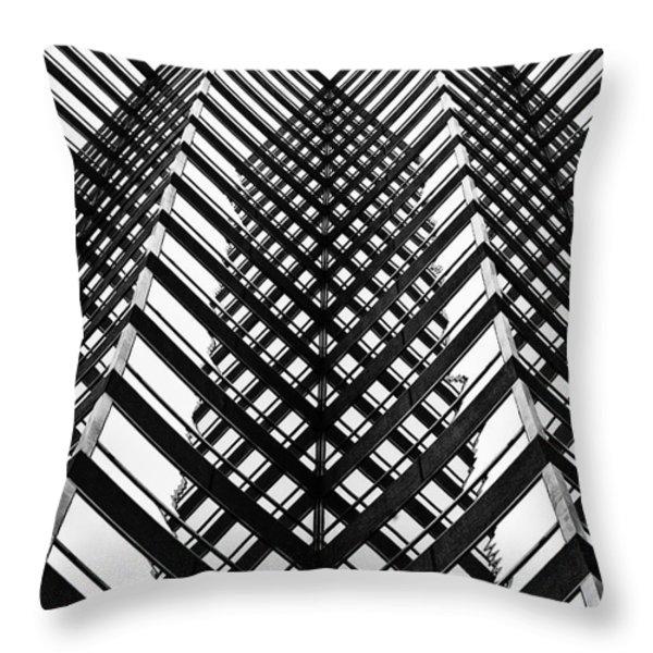Downtown High Rise Throw Pillow by Scott Pellegrin