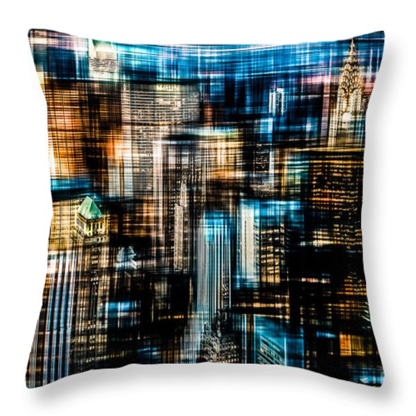 Downtown II - dark Throw Pillow by Hannes Cmarits
