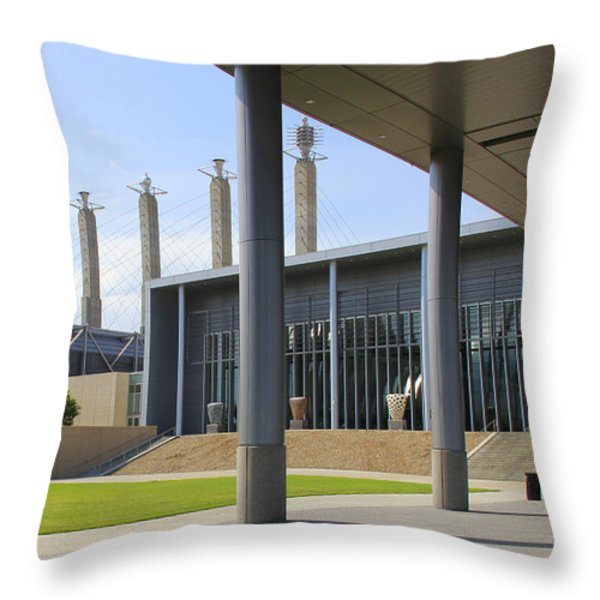 Downtown Kansas City 2 Throw Pillow by Mike McGlothlen