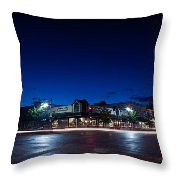 Downtown Lake Geneva Throw Pillow by Steve Gadomski