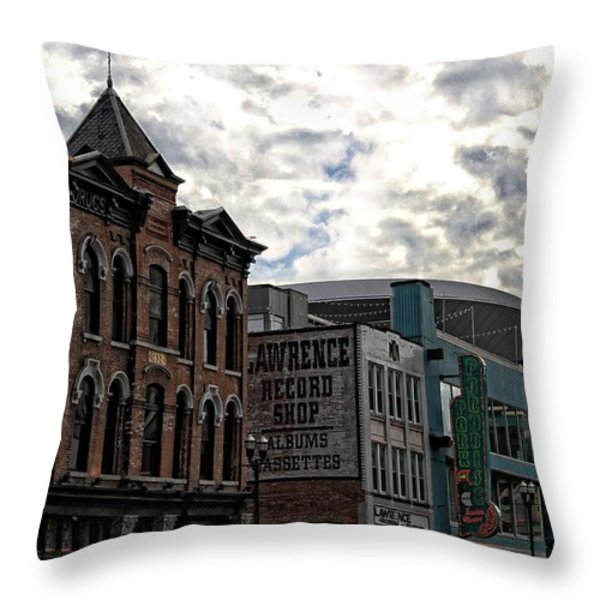 Downtown Nashville Throw Pillow by Dan Sproul