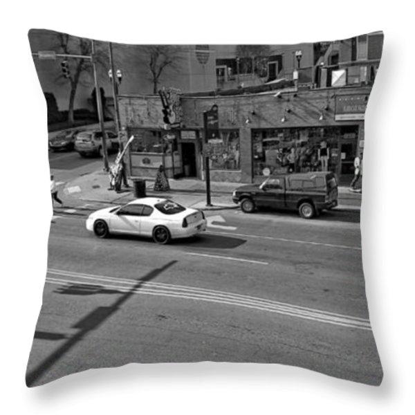 Downtown Nashville Legends Corner Throw Pillow by Dan Sproul