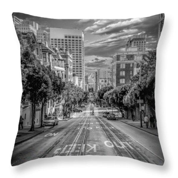 Downtown San Francisco II Throw Pillow by Erik Brede