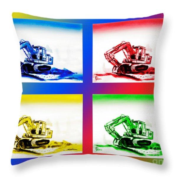 Dozer Mania III Throw Pillow by Kip DeVore