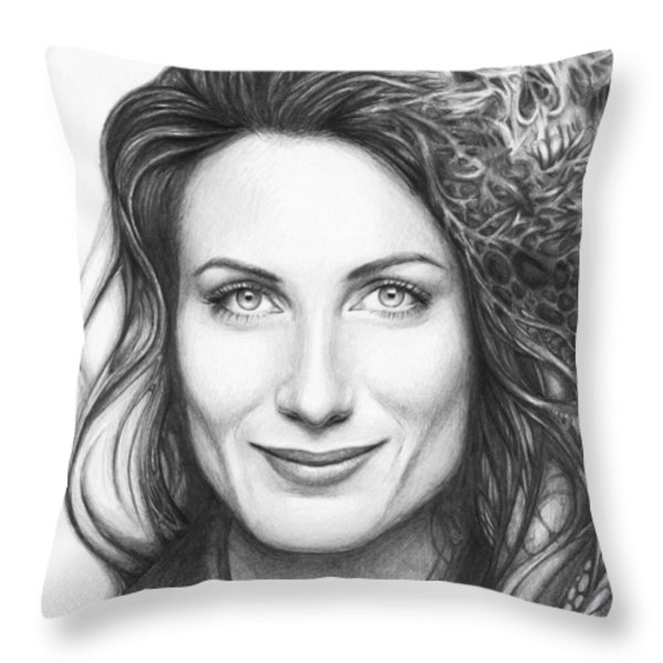 Dr. Lisa Cuddy - House Md Throw Pillow by Olga Shvartsur