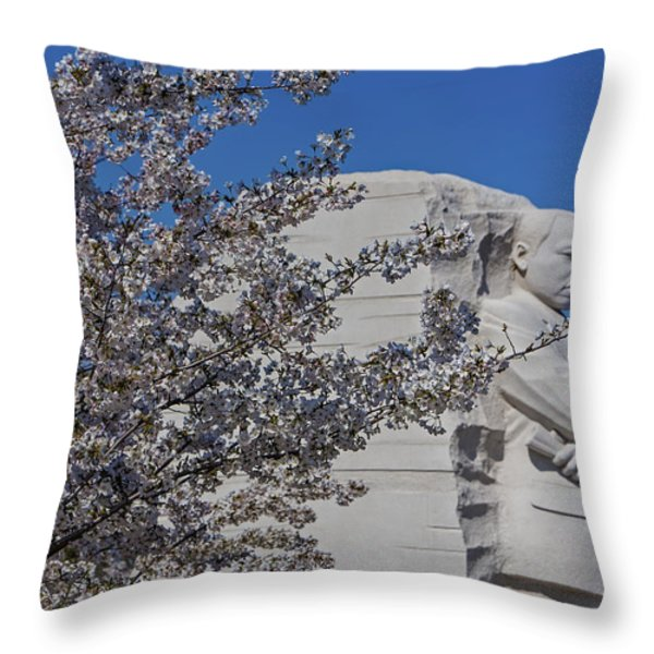 Dr Martin Luther King Jr Memorial Throw Pillow by Susan Candelario