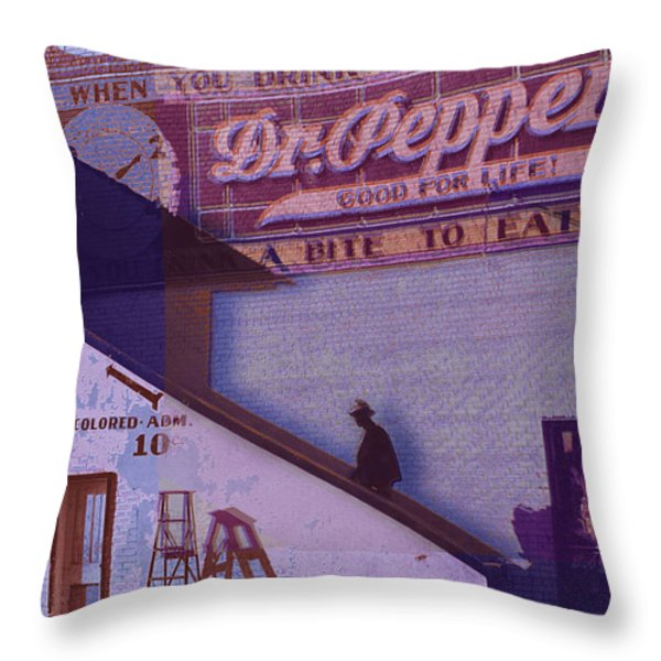 Dr Pepper Blues The Way It Was Throw Pillow by Tony Rubino