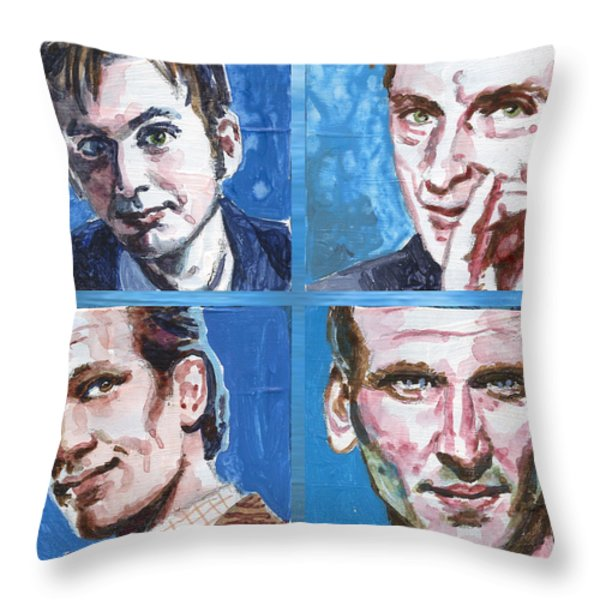 Dr. Who Throw Pillow by Ken Meyer jr