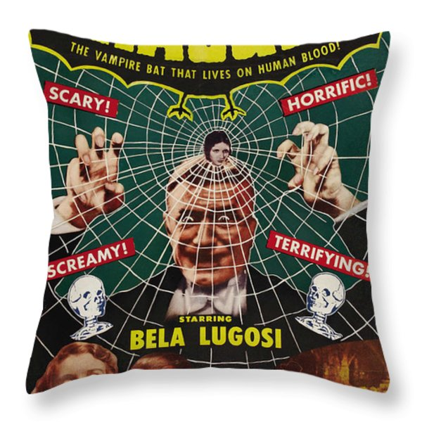 Dracula II Throw Pillow by Ubknown