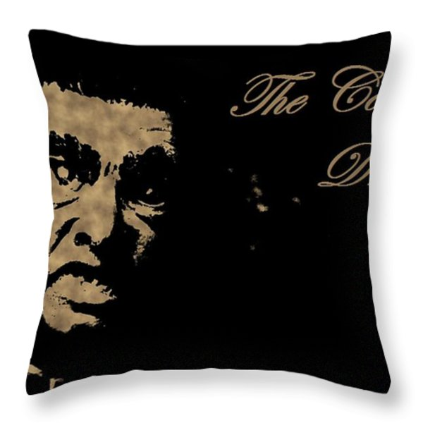 Dracula in Sepia Visits Halifax Throw Pillow by John Malone