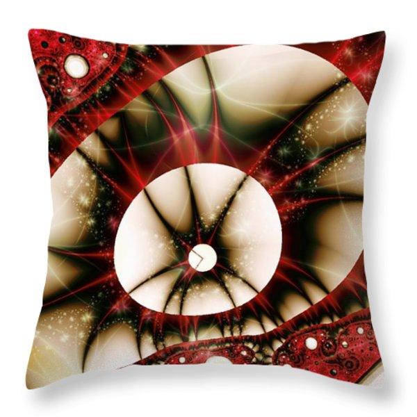 Dragon Eye Throw Pillow by Anastasiya Malakhova