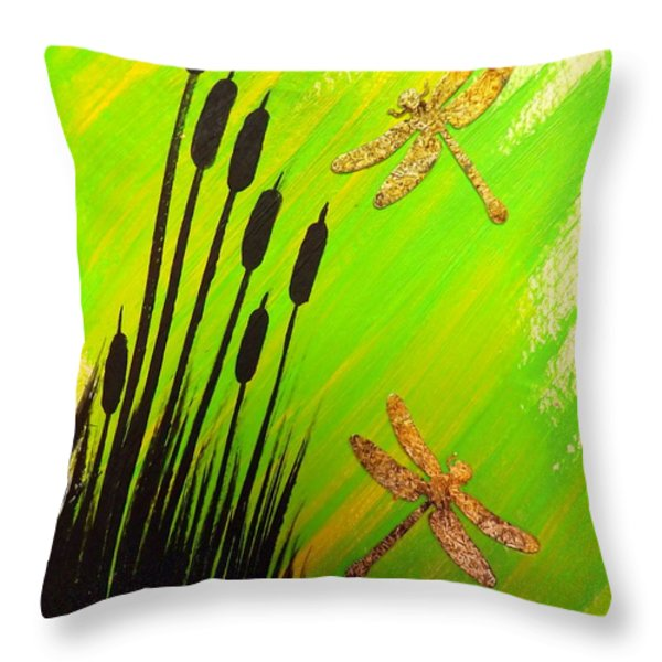Dragonfly Dreams Throw Pillow by Darren Robinson