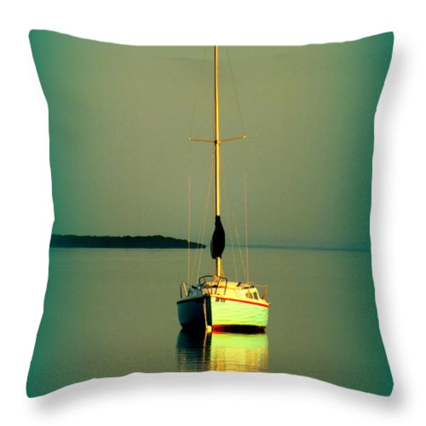 DREAM BAY Throw Pillow by KAREN WILES