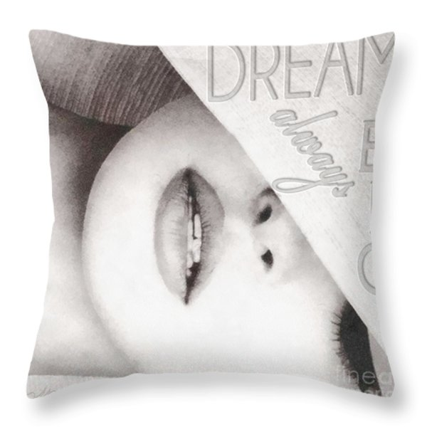 Dream Big Throw Pillow by Mo T
