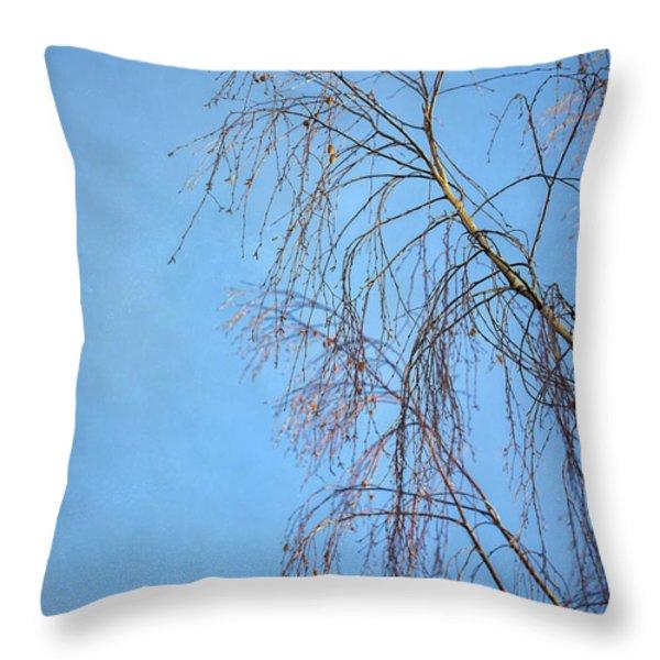 Dream Blue Throw Pillow by Evelina Kremsdorf