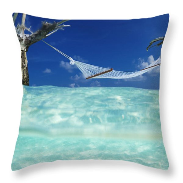Dream Hammock. Throw Pillow by Sean Davey