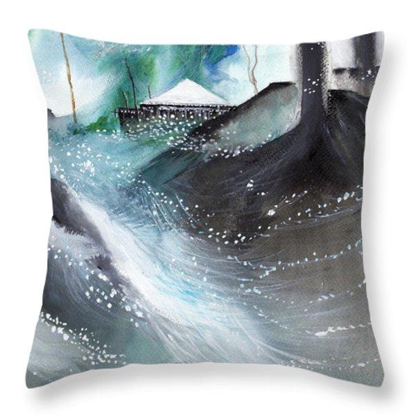 Dream House R Throw Pillow by Anil Nene