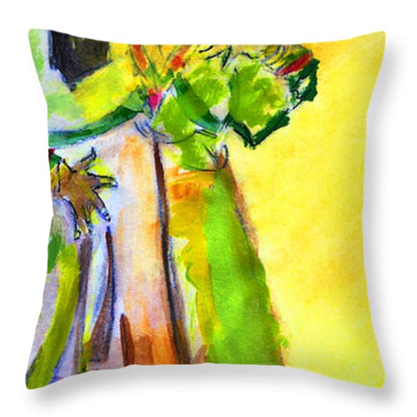 Dream In Color Throw Pillow by Elizabeth Briggs