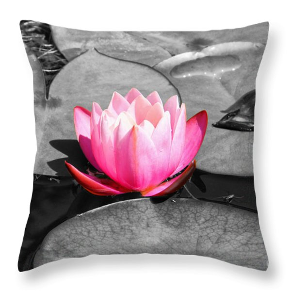 Dream Lily Throw Pillow by Mariola Bitner