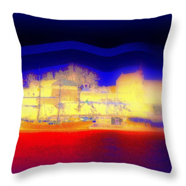 Dream Of A Castle Throw Pillow by Hilde Widerberg